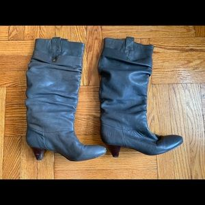 Frye gray Slouch boots size 7.5